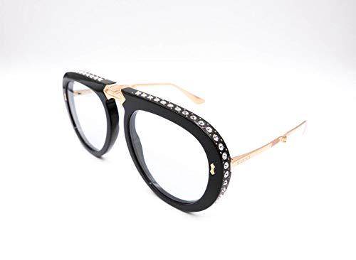 9b582e4e98f00 Gucci GG 0307S 002 Foldable Black Plastic Aviator Sunglasses Light Blue Lens