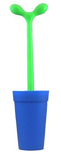 Alessi Aleesi ASG04 AZ Merdolino Toilet Brush, Light Blue