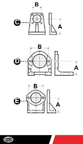 Mounting Brackets FM Series - Foot Mount Brackets: 2-Bolt A Flange, 3 1/4'' Frame, B: 4 3/16'', 202197