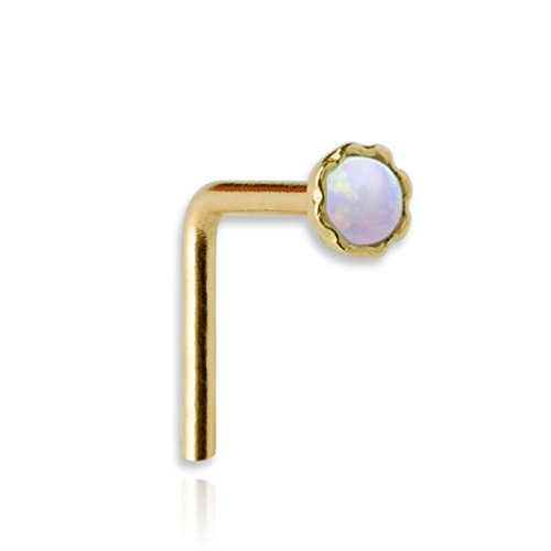 Nose Ring - Nose Stud - 14K Yellow Gold Filled