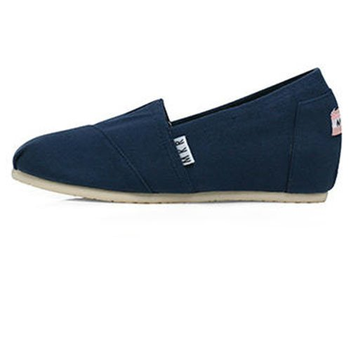con de pendiente mayores tela con 39 fondo de azul alumnas tela de de zapatos superficial Zapatos boca plano qBZAt8B