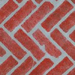Herringbone Brick Wall, Patio and Floor Stencil
