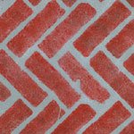Cheap  Herringbone Brick Wall, Patio and Floor Stencil