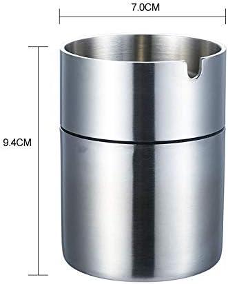 EUEMCH 304ステンレススチール厚く4 mm灰皿起毛防風車すす厚い材料