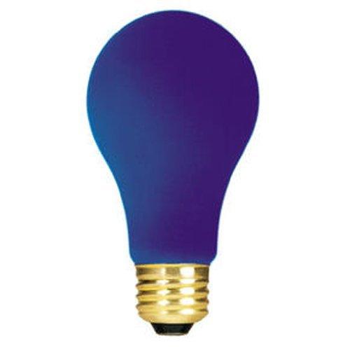 (Bulbrite 160360 60W Ceramic Blue A19 Bulb - 2 Pack)