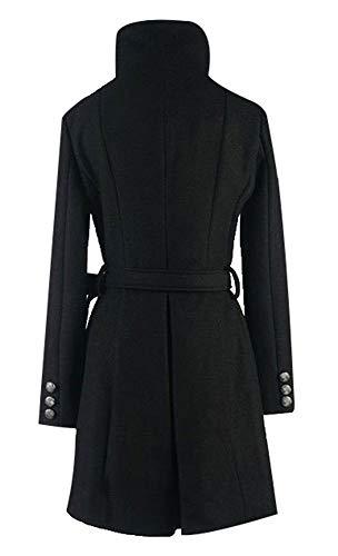 Style Cardigan Nouveau et Long Femme Hiver Manteau Coupe Automne Section Manteau Confortable et Mode Blansdi Lache 2018 de Laine Loisirs Simple Slim qPFw8x8n