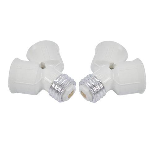 LOT2 E27 à E27 2x LED CFL ampoule lampe adaptateur convertisseur Socket Splitter