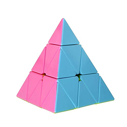 Ganowo Pyramid Speed Cube Magic Puzzle 3x3 Brain Teasers Toys for Kids