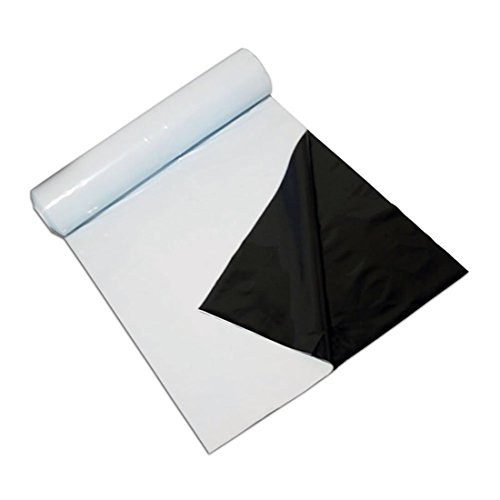 VIVOSUN Poly Film 10' x 100' 5.5 Mil Black and White Panda Film