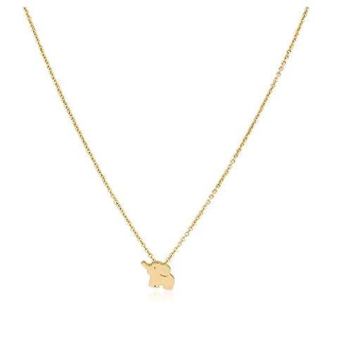 Zealmer Elephant Necklace Gold For Women Little Flying Elephant Elements Cute Good Luck Pendant (Necklaces & Pendants)