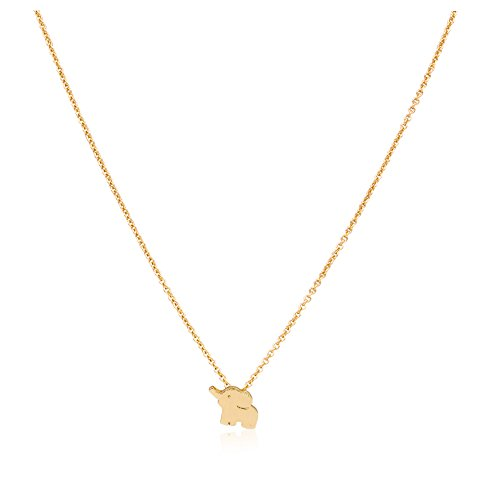 Zealmer Elephant Necklace Gold For Women Little Flying Elephant Elements Cute Good Luck Pendant Chain