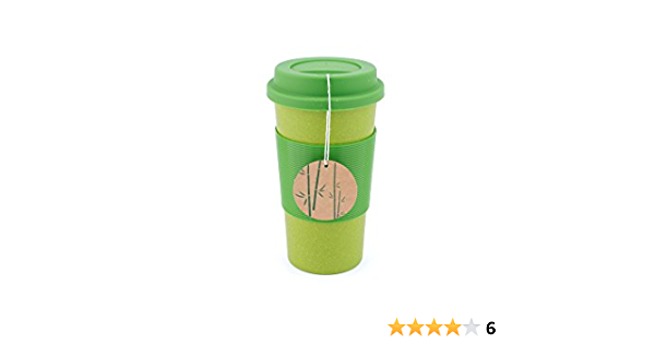 Amazon Com Peterson Housewares Bamboo Fiber Eco Cup 22 Oz Green Kitchen Dining