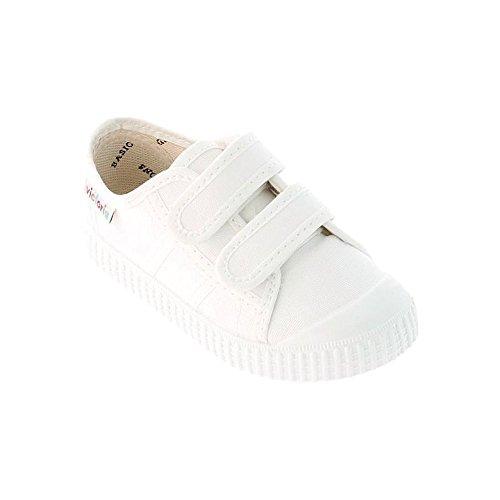Victoria Basket Lona Dos Velcros - Zapatillas Unisex Niños Blanco