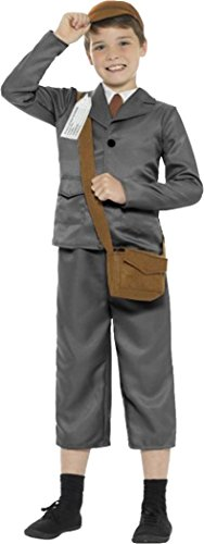 Ww2 Evacuee Boy Costume, With Jacket, Trousers Grey Small Age (Evacuee Costume Ww2)