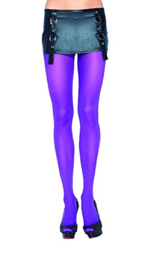 Dance Costumes For Less (Leg Avenue Women's Nylon Tights, Purple, One Size)
