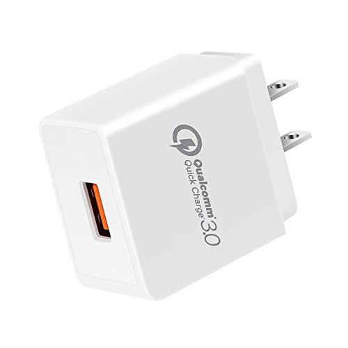 Quick Charge QC 3.0 18W AC Wall Travel Fast Power Charger Adapter Compatible Samsung Galaxy S10 S10e S10+ S9 S8 Note 9 8 A20 A30 A40 A50, iPhone X XR XS Max 7 8 Plus iPad Pro 10.5 9.7 11 inch & More