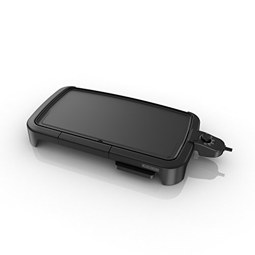 BLACK DECKER Family-Sized Electric Griddle with Warming Tray Drip Tray, GD2051B