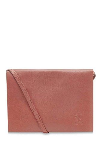 Montte Ladies Flap Pink Italian Leather Di Envelope 100 Shoulder Jinne Soft Dusty Bag rrq14