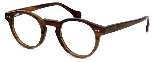 s Buffalo Horn Designer Reading Glasses CEBH122 in Brown Horn +3.00 (Buffalo Horn Frames)