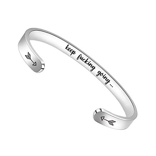 Inspirational Bracelets for Women Men Cuff Bangle Friendship Mantra Jewelry Come Gift Box