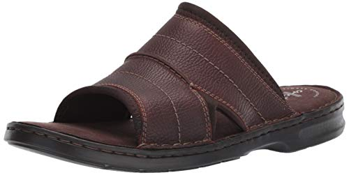 - CLARKS Men's Malone Easy Sandal, Dark Brown Tumbled Leather, 075 M US