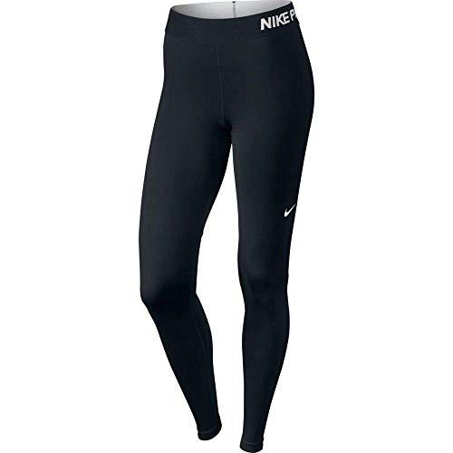 Nike Women's Pro Cool Tights, Black/Black/White, Medium