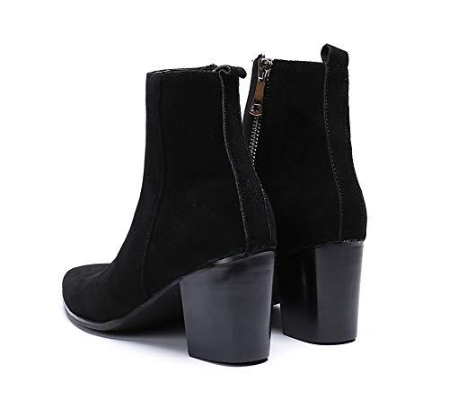 Knight Shose Courtes Bureau L'hiver Chaussures Classiques Pour Rock Hommes L'automne Eu39 Bottes Cuir Et Discothèque Casual Mariage Chaudes Singer En Casual Cowboy qIwp4Z