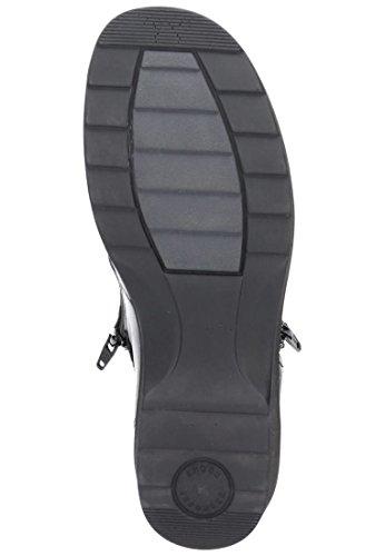 Schwarz Cuero Clásicas De Botas Mujer 990433 Para Comfortabel OxnPAA
