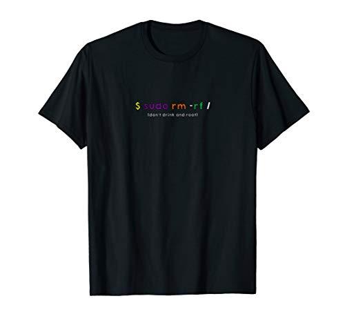 sudo root funny geek linux ubuntu debian redhat tshirt
