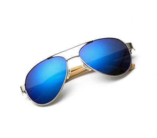 de UV400 de soleil protection mode air Huyizhi de en Lunettes plein la de soleil conduite Silver lunettes unisexe voyager Cool de pêche bois lunettes en 7wqxw4tE