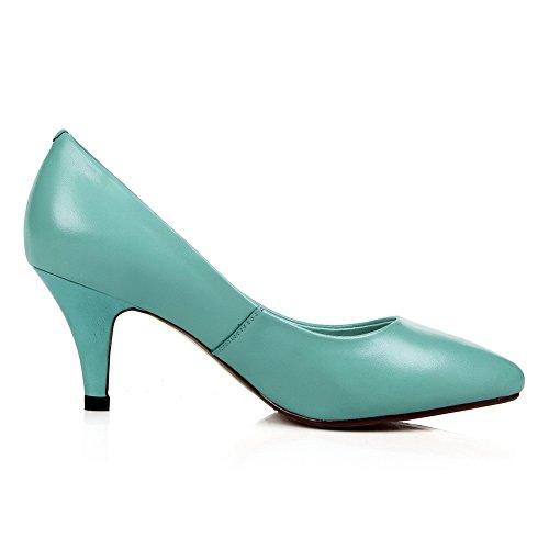 Balamasa Dames Romaans Stijl Laag Uitgesneden Bovendeel Mule Zacht Materiaal Pumps-schoenen Blauw