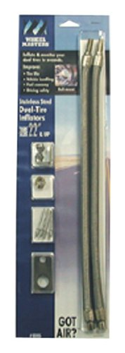 Wheel Masters 8005 Stainless Steel Hub Mount - 2 Hose Kit for 22' Inner Dual Wheels