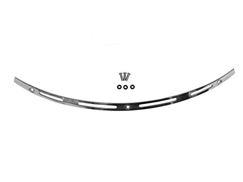 (Polished Stainless 4-Slot Pattern Windshield Trim for Harley Davidson '96-'13 Harley Davidson Electra Glide, Street Glide,)