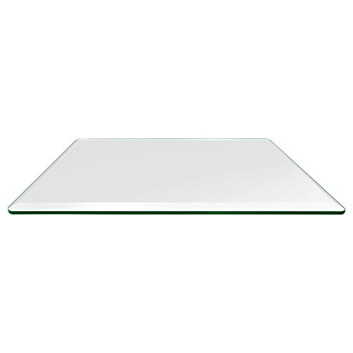 36×60 Inch Rectangle Glass Table Top, 1 4 Inch Thick, Bevel Polished Edge, Ea.