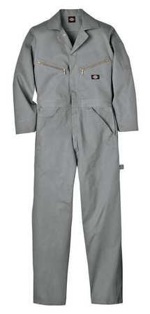 Long Sleeve Coveralls, Cotton, Gray, XLT