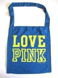 Victoria's Secret Love Pink Messenger Bag (Blue)