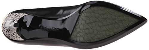 Gayle Klein Leather Calvin Women's Snake Muted Black Pump BZBzRH