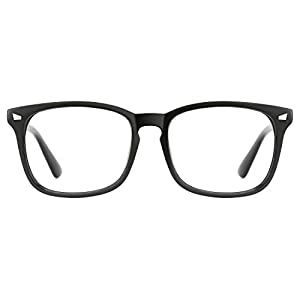 TIJN Unisex Stylish Square Non-Prescription Eyeglasses Glasses Clear Lens Women Men Eyewear