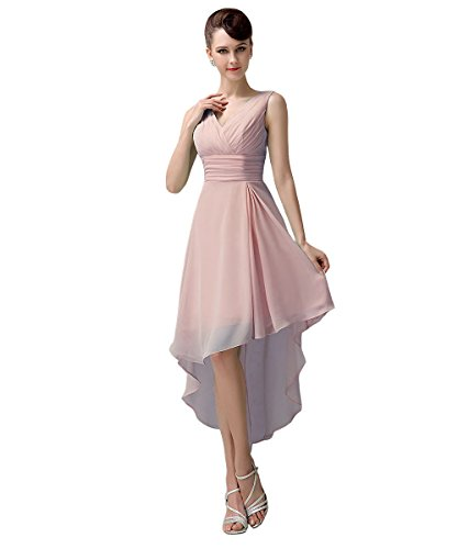 YesDress Damen Kleid Rosa - Blush Pink