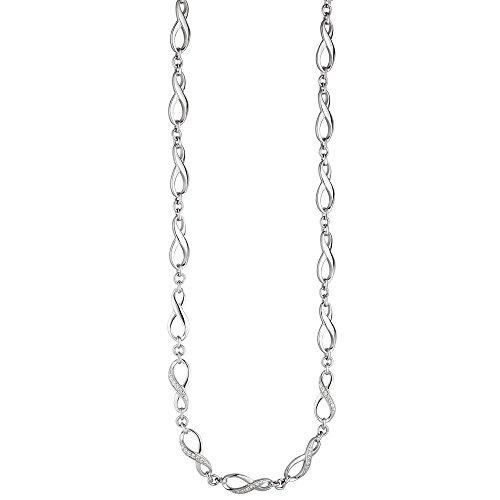 Collier Infini en argent 925avec zirconium-48cm Femme
