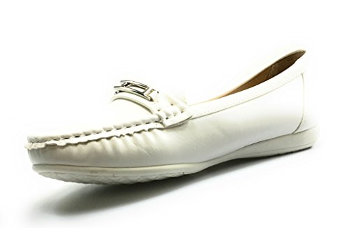 Loafers Leather Comfort 7 Hazel Shoes Karl2 Dumas Black White 7 Womens Pierre XfYA4Sq