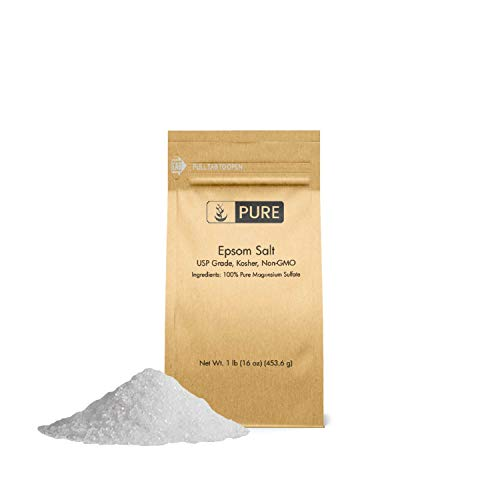 Epsom Salt (1 lb.) by Pure Organic Ingredients, Magnesium Sulfate Soaking Solution, All-Natural, Highest Quality & Purity, USP Grade ()