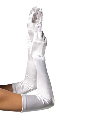 Forum Novelties 67683 Formal Opera Evening Long Gloves - White, As Shown, One Size -