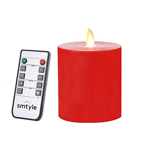 battery candles with timers red - 4