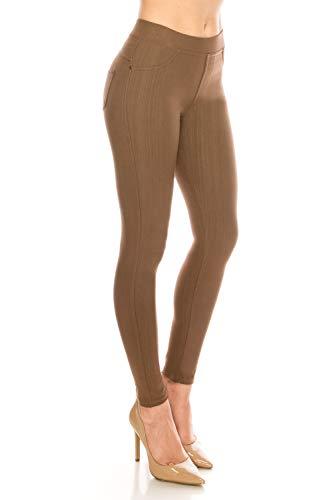 ShyCloset Basic Skinny Jeggings Pants - Skinny Slim Fit Jean Stretch Leggings (Regular/Plus Size) One Size -
