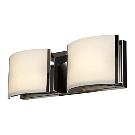 Access lighting 62292 brz opl nitro 2 two light vanity with opal glass shade