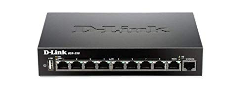 D-Link 8-Port Gigabit VPN Router with Dynamic Web Content Filtering DSR-250/RE (Renewed)
