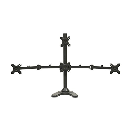 NavePoint Quad LCD Monitor Stand/Mount Free Standing Adjustable 4 (1 + 3) up to 24 Inches