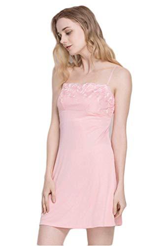 De Batas Elegantes Colores Mangas Verano Off Dormir Spaghetti Vestido V Fashion Sólidos cuello Pijamas Mujer Ropa Rosa Shoulder Camisón Sin SYwqxpXPYn