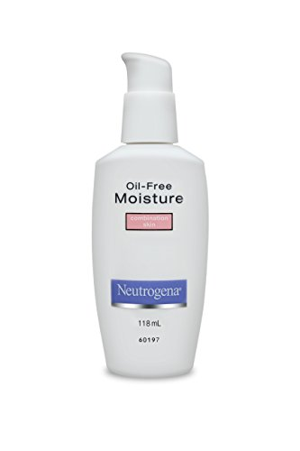 Neutrogena Oil Free Moisture Glycerin Face Moisturizer & Neck Cream Derived from Castor Oil, Lightweight, Oil Absorbing, Soft Natural Matte Finish Facial Moisturizer Lotion, 4 fl. oz